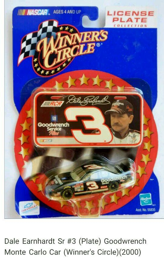 Dale Earnhardt Sr 3 Plate Goodwrench Monte Carlo Car Winners Circle2000