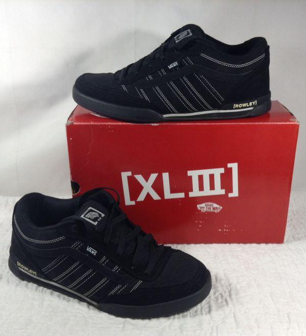 33fdccb8f8 VANS Rowley XL3 Black Men s Shoes 11.5 M for Sale in San Jose