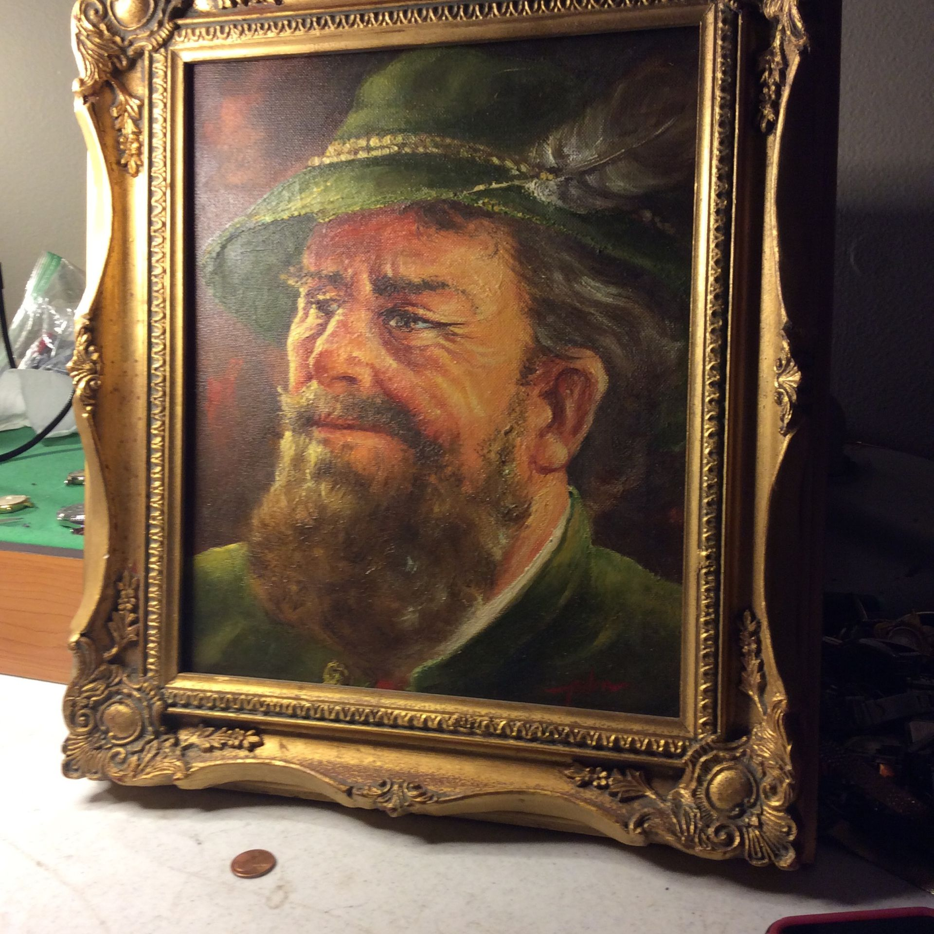 Old Picture Oil Collectible