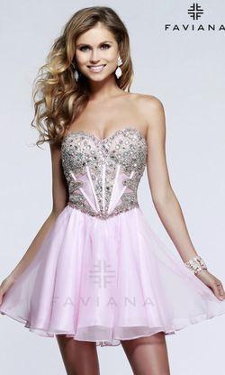 Faviana 7621 Light Pink Homecoming Dress Thumbnail