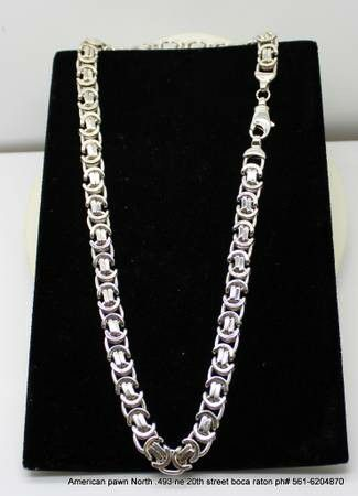 Super Heavy Chain Link Solid Sterling Silver Men Necklace Jewelry Accessories In Boca Raton Fl Offerup