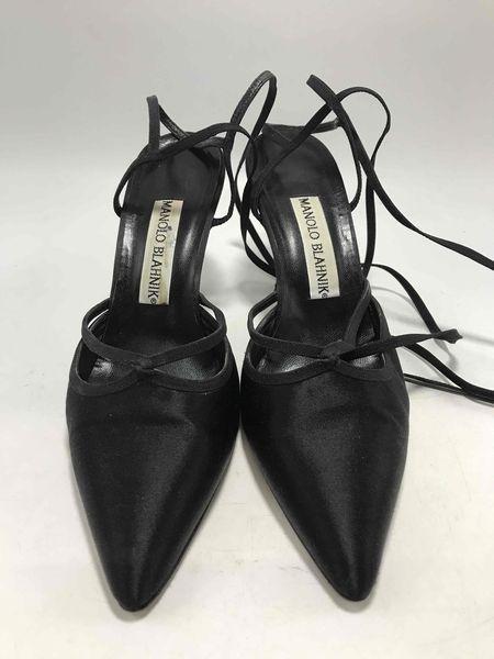 Manolo Blahnik Satin Heels - Size 37