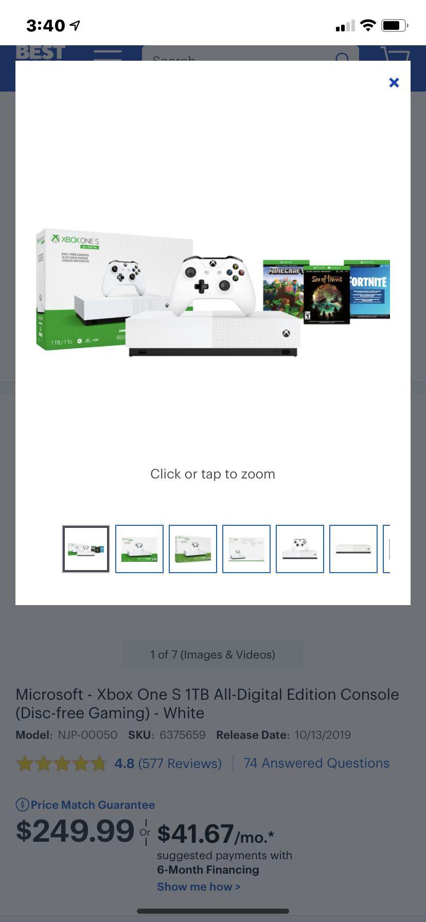 Xbox 1 digital 3 games