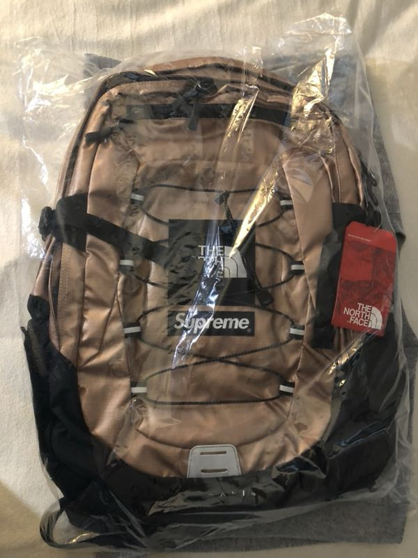 dbfd2280a3e Supreme x The North Face Metallic Borealis Backpack Rose Gold for ...