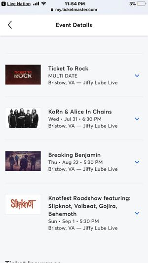 New and Used Tickets for Sale in Roanoke, VA - OfferUp