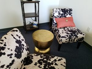2 soft cow /dalmation print office chairs for Sale in Arlington, VA