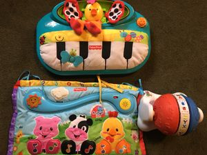 Set of three baby toys. Lights and sings for Sale in Oak Forest, IL