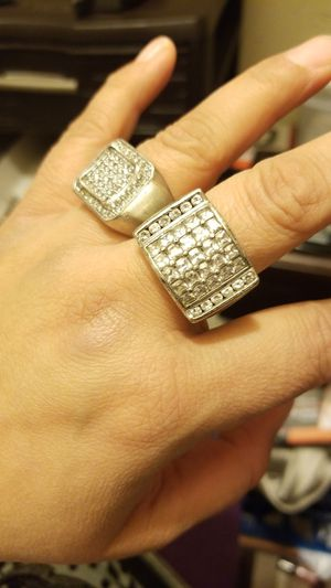 MENS 2 RING COMBO 1 IS STERLING AND 1 METAL IS UNKNOWN for Sale in Springfield, VA