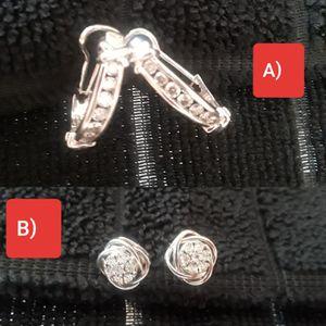 Woman's Diamond earrings, white gold 14k. for Sale in Orlando, FL
