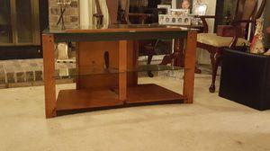 Glass/wood TV stand for Sale in Glen Allen, VA