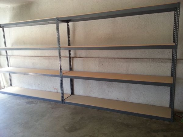 Warehouse And Garage Storage Shelving 8 Ft Wide X 1 5 Ft