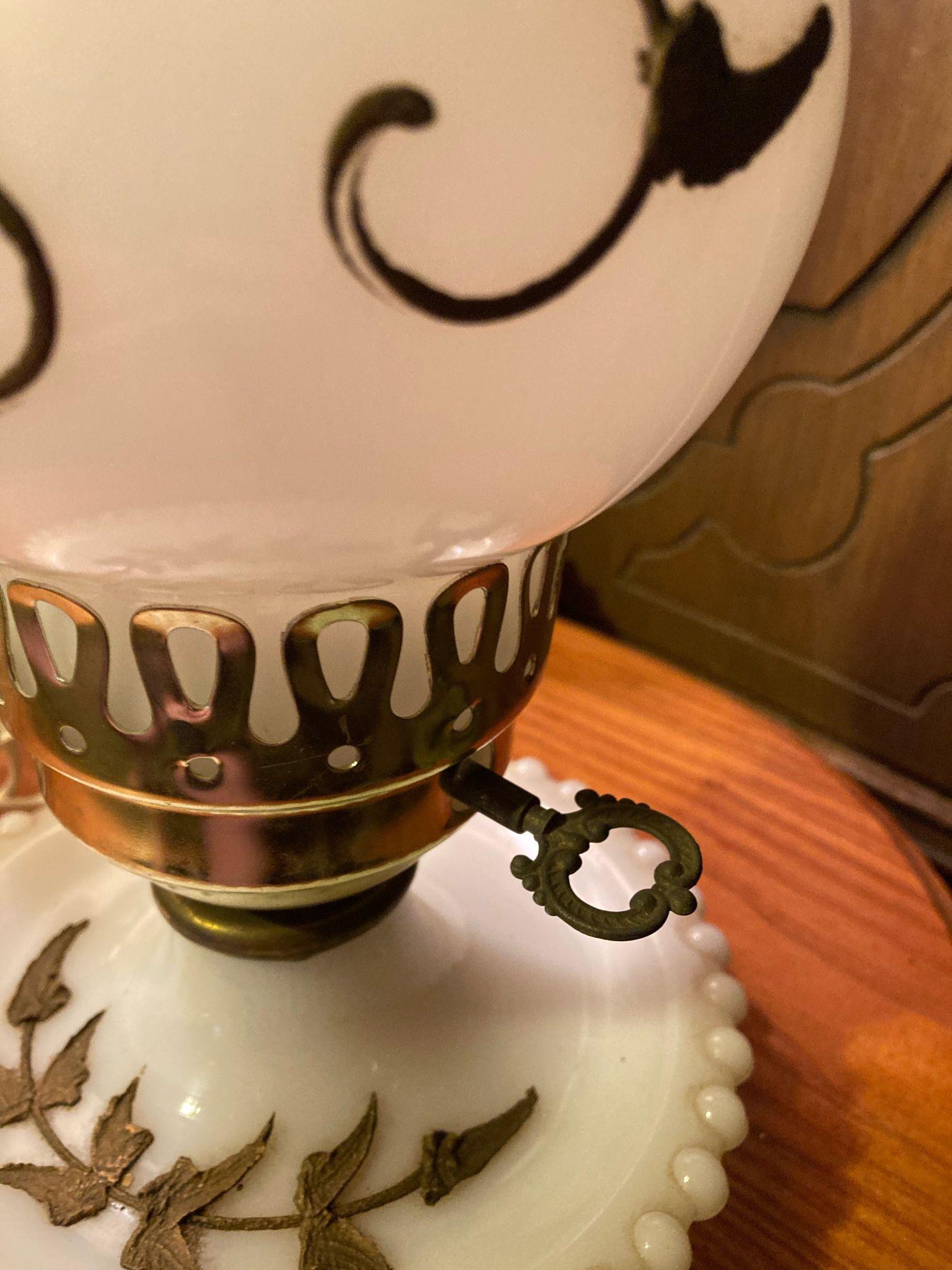 Milk Glass Lamps