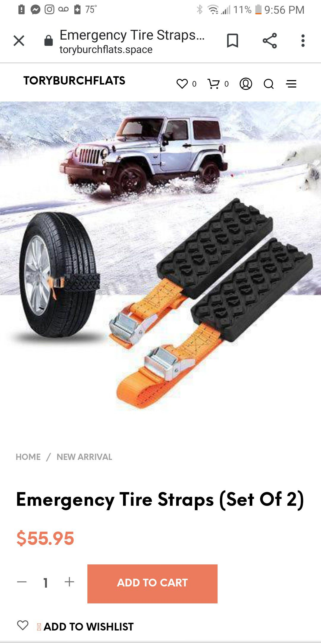 Emergency tire straps