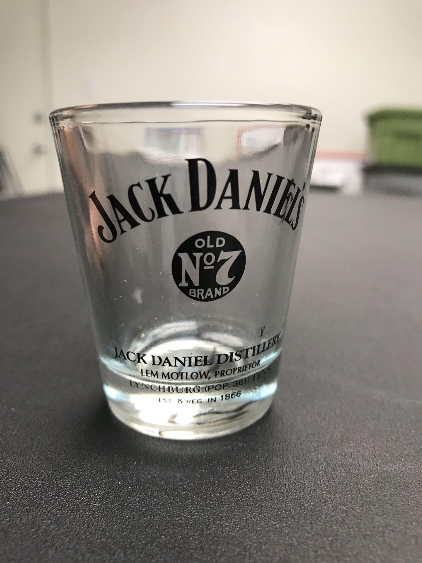 "Jack Daniels Lynchburgh ""Old NO 7"" Shot Glass Lem Motlow Proprietor • Vintage"