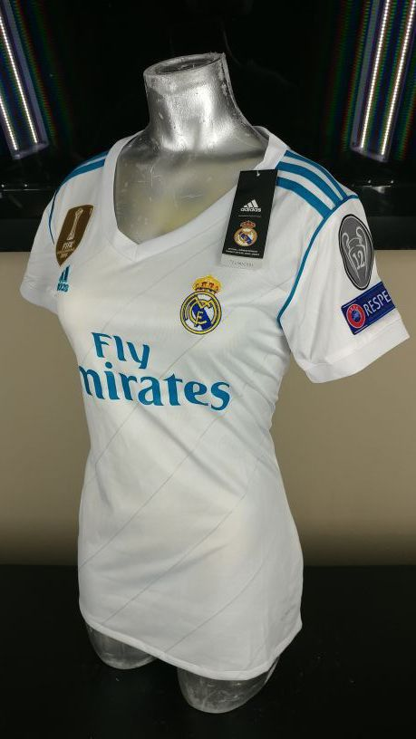 WOMEN REAL MADRID HOME CHAMPIONS LEAGUE JERSEY   playeras real madrid mujer    LARGE OR MEDIUM SIZE for Sale in Addison 0d82e0b8962ab