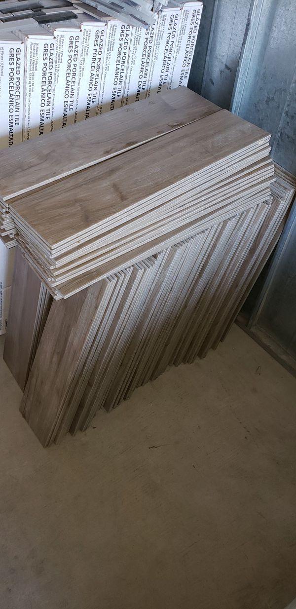 160sf= 80dlrs porc wood tile \