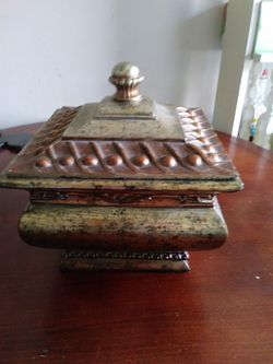 Decorative Wooden Hand painted box with lid Thumbnail
