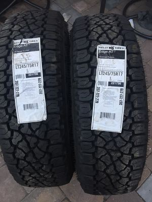 245 75 17 new set of 2 new kelly tires for Sale in Manassas, VA