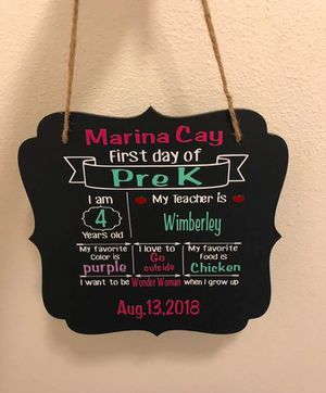 1st Day of School board, great for pictures ect for Sale in Austin, TX