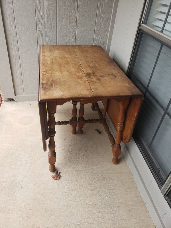 Brown Fold Down Wooden Table