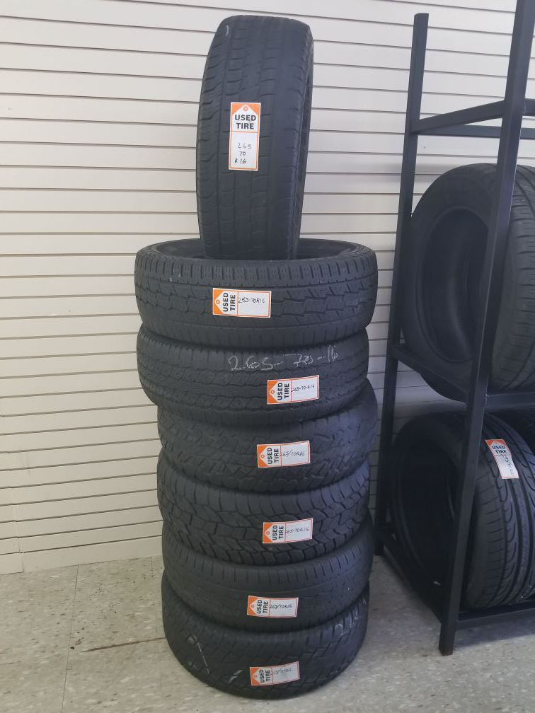 Used Tires 265 70 16