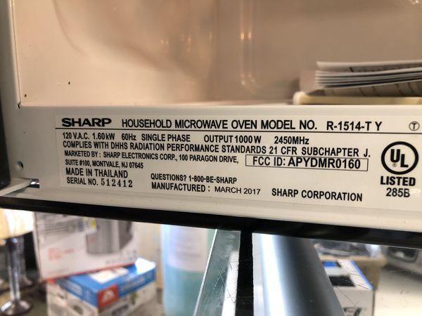 Sharp Carousel R 309yk 200 Over The Range Microwave Ovens 1514