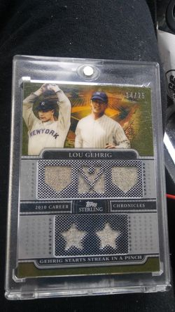 2010 Topps career Chronicles Lou Gehrig Jersey card 14/25 Thumbnail
