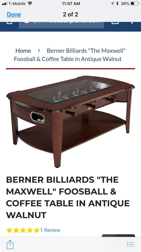 Food All Coffee Table In Antique Walnut For Sale In Taylorsville UT - Antique foosball table for sale