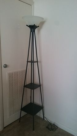 "70"" tall lamp with shelves Thumbnail"