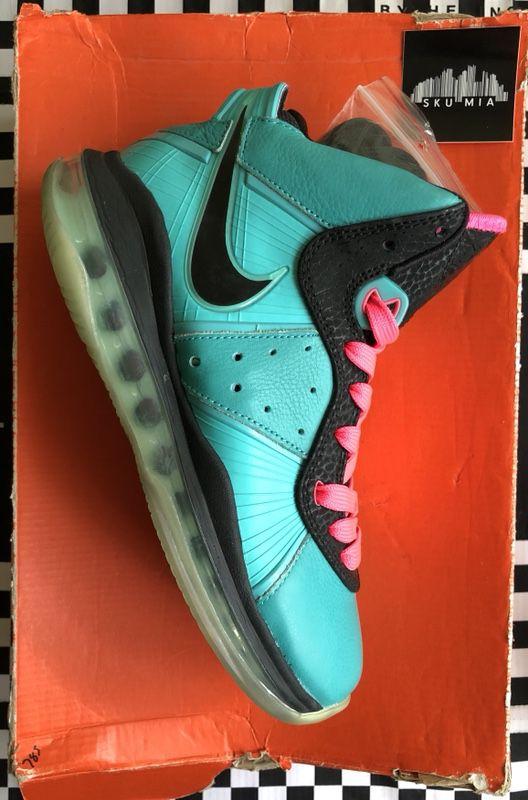 "reputable site 88a74 6cf8c VNDS Nike Air Max Lebron VIII 8 ""South Beach"" Size 5y"