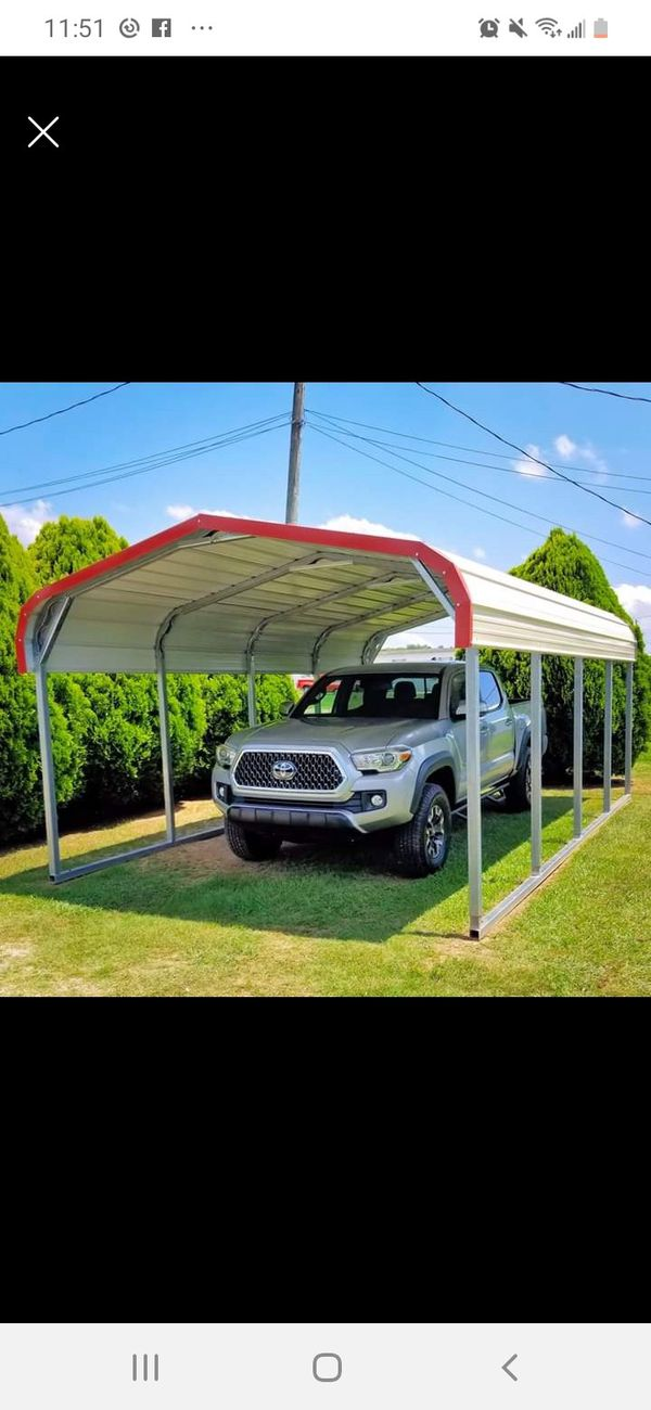 Slightly used Steel Carport Canopy ☆ for Sale in ...