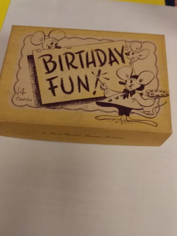 Antique Birthday Cards Complete Set Of 14
