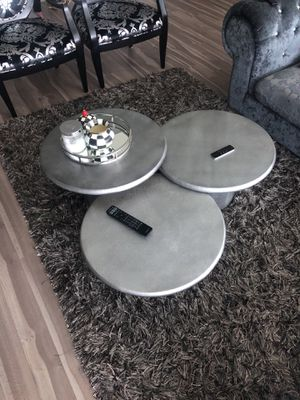 3 Round & Staggered Silver Coffee Table for Sale in Tysons, VA