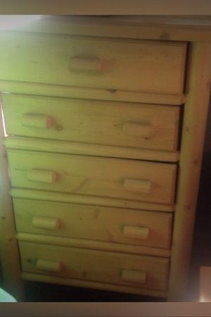 5 drawer natural wood dresser for Sale in Stuarts Draft, VA
