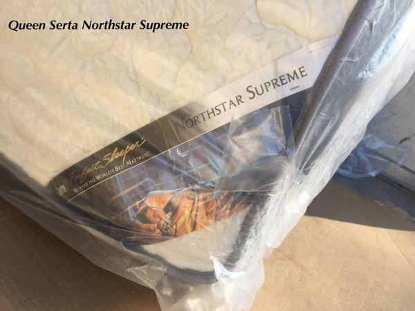 Queen Serta Perfect Sleeper Northstar Supreme Ultra Plush Pillow Top Mattress