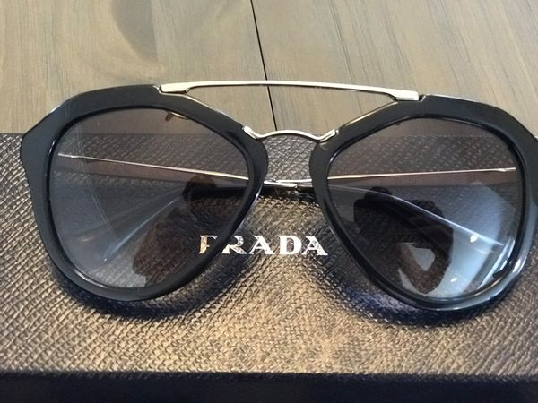 4a740e6b9870 PRADA Sunglasses PR12QS CINEMA 1AB0A7 Black  100% original for Sale ...