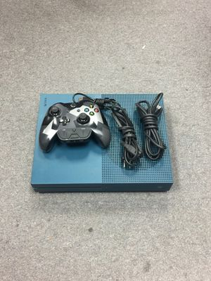 Xbox One S 1681 Blue w/ controller and cables for Sale in Westminster, MD