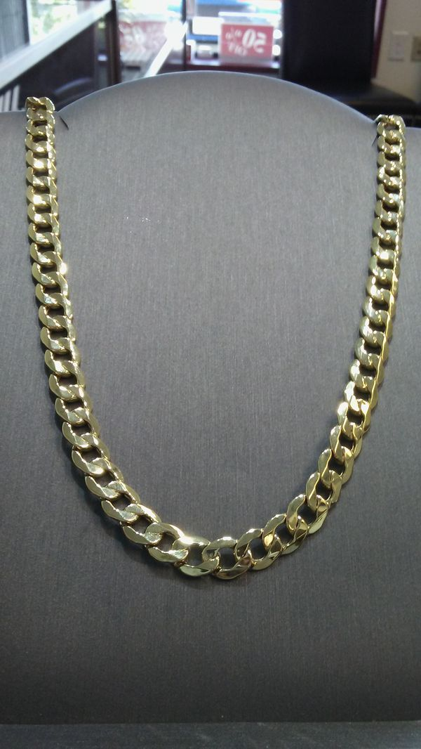 10kt Gold 8mm Cuban Link Chain 26 Price Drop Is Down For In Virginia Beach Va Offerup