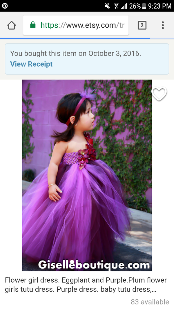 a4fe75149 Two toned purple toole flower girl dress for Sale in Romoland, CA ...