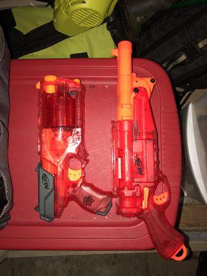 2 red Nerf guns for Sale in Alexandria, VA