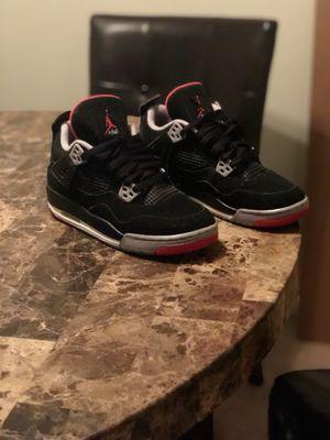 Air Jordan retro 4 black/cement for Sale in Hampton, VA
