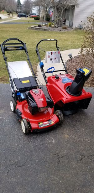Photo TORO DEAL. $585 Toro personal pace lawnmower Toro 621QZR 4 cycle snowblower. $585 BOTH