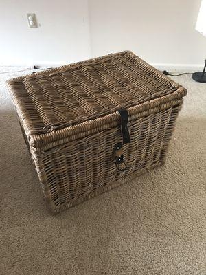 Wicker Rattan chest Ikea Byholma for Sale in Bethesda, MD