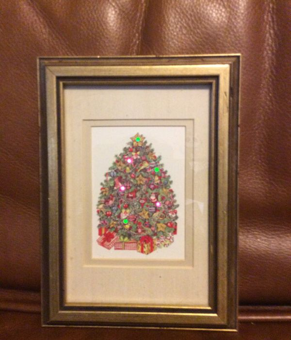 Vintage Light Up Christmas Tree In Frame 1988 Walter Mott