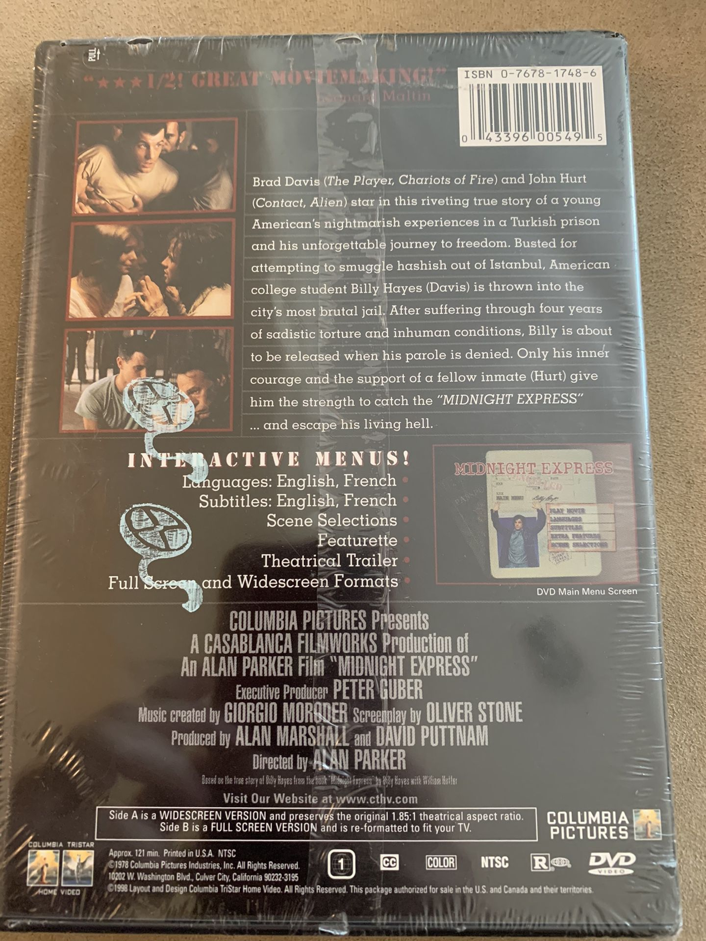 MIDNIGHT EXPRESS 20th Anniversary Edition SEALED DVD