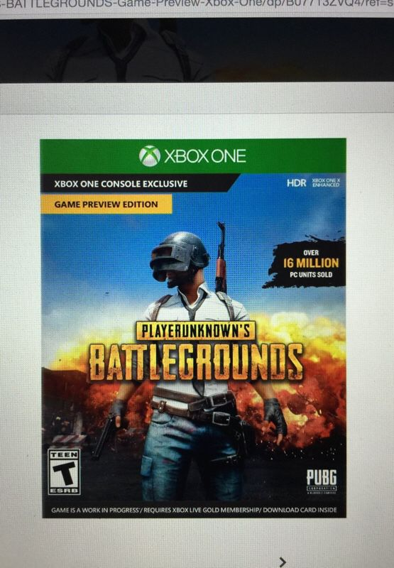 Pubg for Xbox one brand new(code for download)