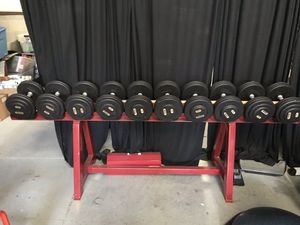 Troy dumbbells 55lbs to 100lbs sets available for Sale in Orlando, FL