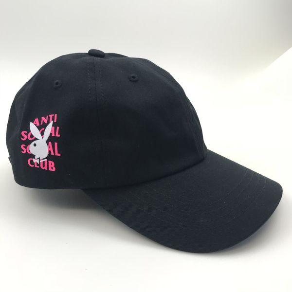 e740c6f3dc89 Anti Social Social Club ASSC x Playboy Black Cap Hat for Sale in ...