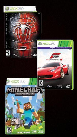 Minecraft, Spider Man 3, & Forza Motorsport 4 for Sale in Manassas, VA
