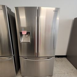 Samsung Stainless Steel French Door Refrigerator Used Good Condition With 90day's Warranty  Thumbnail